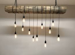 reclaimed lighting fixtures. Reclaimed Barn Sleeper Beam Wood Light Fixture With LED Edison Bulbs Rustic Industrial Chandelier Lighting $400 By 7MWoodworking On Etsy Fixtures L
