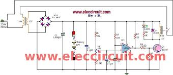 fully automatic battery charger circuit using lm311 high current battery charger circuit diagrams at 24 Volt Battery Charger Diagram