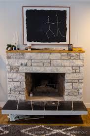 wood mantel over stone fireplace ideas