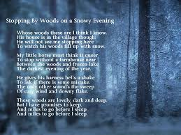 stopping by woods on a snowy evening analysis essay  stopping by woods on a snowy evening analysis essay