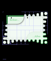 diagram the image less fallback rendering has a green double border