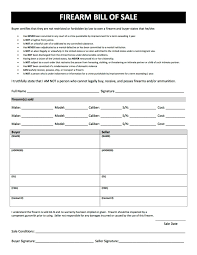 Legal Bill Of Sale 2018 Firearm Bill of Sale Form - Fillable, Printable PDF & Forms ...