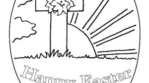Preschool Easter Coloring Pages Printable Book Eggs Religious For