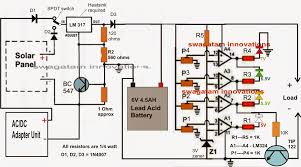 in this post we discuss a simple 6v solar battery charger circuit car battery charger circuit diagram and operation at Battery Charger Wiring Design