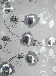 Zilver Goud Bloemen Matte Glitter Behang Zelfklevende Peel Sticker