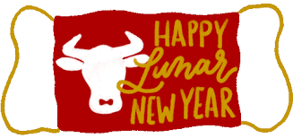He heard if it was the year of the ox now and wanted to celebrate that as well cause he loves cows. Chinese New Year Ox Gif Chinesenewyear Ox Yearoftheox Discover Share Gifs
