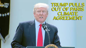 Image result for President Donald Trump on Thursday announced his decision to pull the US out of the Paris climate accord