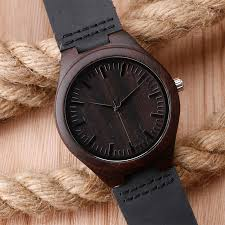bamboo watch leather band strap