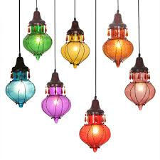 Full Image for Awesome Colored Glass Pendant Lights 100 Hand Blown Glass  Pendant Lights Interior Lamp ...