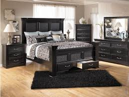 Contemporary Queen Bedroom Sets With Storage Of Baybrook Chestnut