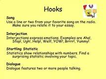 essay hook example if you decide you disagree you could start  this really helped to write a good hook for my essay thank you for the examples
