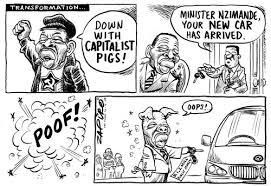 Image result for Blade Nzimande Marx cartoon