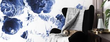 Behang Met Grote Blauwe Bloemen Uit De Gouden Eeuw Kek Amsterdam