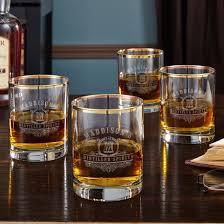 gold rim scotch glasses
