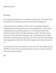 Brilliant Ideas of Letter Introduction Job For Template