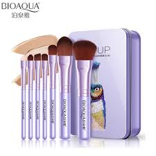BIOAQUA Brand <b>7pcs Pro</b> Pink Purple <b>Makeup Brushes Set</b> Soft ...