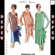 1920s Dress Patterns Cool 48's Dress Reproduction 48 48 Mrs Depew Vintage