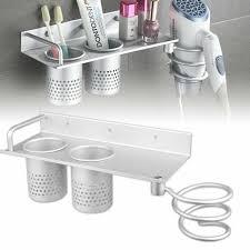 wall mount hair dryer holder bathroom