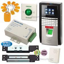 fingerprint password rfid card diy kit set with 1200kg magnetic shear door lock