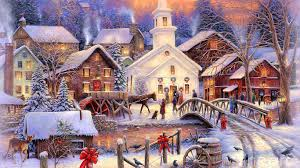 christmas town wallpaper. Wonderful Christmas Christmas Images Town Scene HD Wallpaper And Background Photos To Wallpaper F