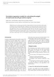 Aircraft Engine Design Mattingly Pdf Pdf Correlation Regression Models For Calculating The