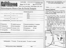 dental referral form template doctor referral form pickerington oh