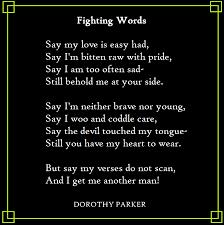 Dorothy Parker Fighting Words Poetry Pinterest