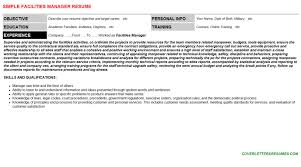 Facilities Manager Resume Cover Letter Cv Letters Resumes