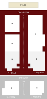 orpheum theater seating chart