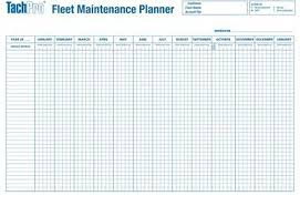 2018 Hgv Psv Vehicle Maintenance Wall Forward Planner Free