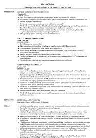 Sample Resume For Electronics Technician Electronics Technician Resume Samples Velvet Jobs