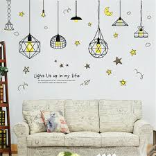 diy creative chandelier removable wall decal family home decor sticker art mural