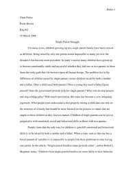 expository essay on single parenting  single parent essays and papers 123helpme com