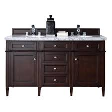 james martin signature vanities brittany 60 in w double vanity in burnished mahogany with marble