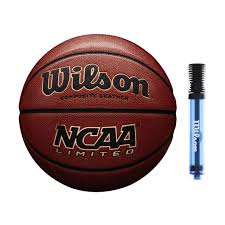 com wilson ncaa limited composite leather official size basketball 29 5 with 6 dual action pump sports outdoors
