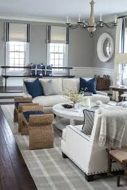 navy blue and white living room blue and white coastal living room with slipcover