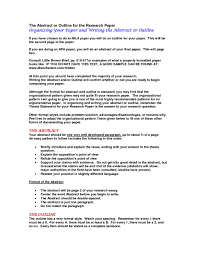 010 Research Paper Example Of Simple Outline For How To Write An A