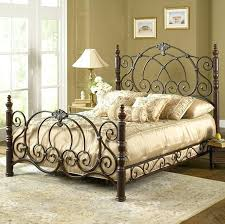 iron bed vintage e finish classic scroll work within king size wrought designs 2 frames queen