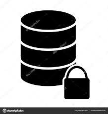 ロック データベース アイコン単純な最小 96 X 96 ピクトグラム