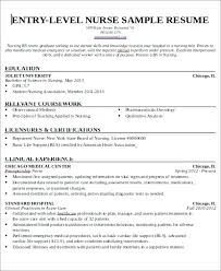 Lpn Resume Examples Adorable Nurses Sample Resume Example Entry El Nursing Resume Amusing Nurse