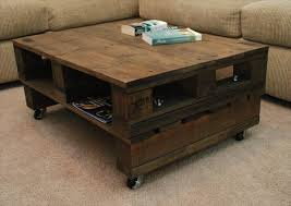 DIY Wood Pallet Coffee Table With Wheels  101 PalletsPallet Coffee Table On Wheels