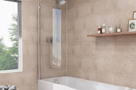 beige stone tile effect panels