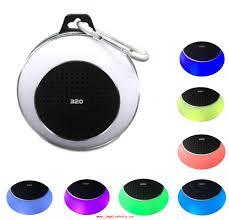 Waterproof Speaker With Lights With Hook Round Waterproof Portable Music Bluetooth Mini