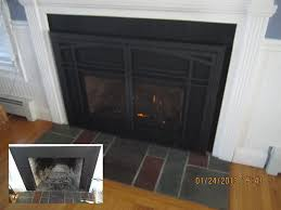 wear and tear on the fireplace firebox