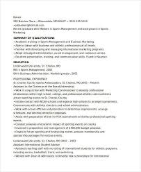 Sports Marketing Resume Samples Best Of 24 Marketing Resume Templates PDF DOC Free Premium Templates