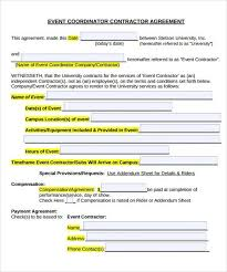 event agreement contract sample event planner contract sample contracts for event planners
