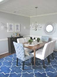 That Blue Rug Does Wonders For The Dining Room Completely Opening It Up Drawing Eye To Pattern And Providing A
