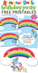 Small Picture Free MLP Rainbow Dash Birthday Party Printables
