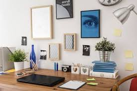 tidy office. Stylish Tidy Wooden Desk With Data In Office Stock Photo, Picture And Royalty Free Image. Image 41028057.
