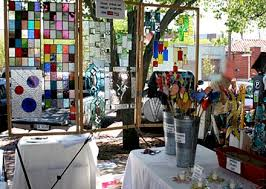 stained glass craft booth
